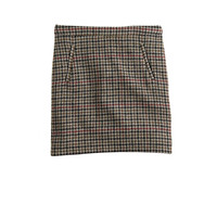 J.Crew Womens Zip-Pocket Mini Skirt In Tweed