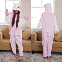 Animal Cosplay Costume for Adult Hello Kitty Onesuit Pajama For Halloween Carnival Masquerade Christmas Party