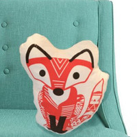 Fox Pillow- screen printed plush