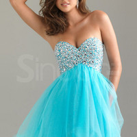 Attractive Ball Gown Sweetheart Empire Waistline Tulle Graduation Dress from SinoAnt