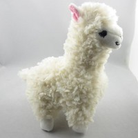 Cute Alpaca Llama Plush Toy Creamy White Japan Animal Children Doll 23cm High