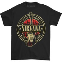 Nirvana Men's  Est 1988 Guitar Stamp T-shirt Black