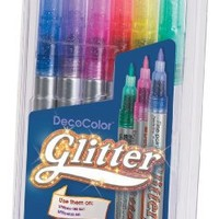 Uchida 160-6A 6-Piece Glitter Decocolor Marker Set