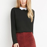 Contrast-Collar Top