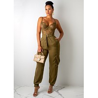 HALF LACE JUMPSUIT