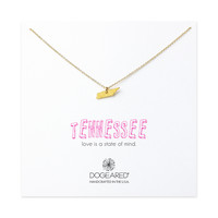 tennessee charm necklace, gold dipped - Dogeared