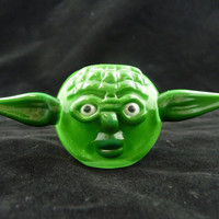 Yoda Glass Pipe - May The Force Be With You - Hand Blown Glass Pipe