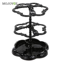 Chic Rose Pattern Jewelry Necklace Stand Display Organizer Holder Show Rack  SN9