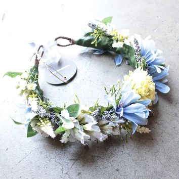 rock n rose -  cambridge handmade floral meadow crown headband