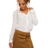 Marian Suede Skirt