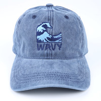 The Wavy Dad Hat in Navy Mineral
