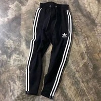 ADIDAS sports pants men's and women's thin cotton biped trousers for casual nine-piece lovers