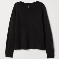 Knit Sweater - Black - Ladies | H&M US
