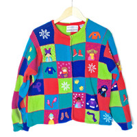 Bright Winter Weather Wear Tacky Ugly Christmas Sweater