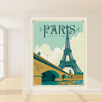 Anderson Design Group's Paris Mural wall decal