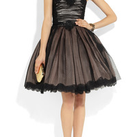Dolce & Gabbana|Strapless lace and tulle dress|NET-A-PORTER.COM