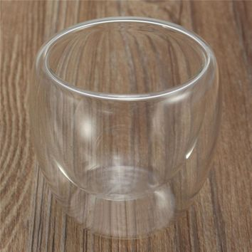 double glass wall coffee cup
