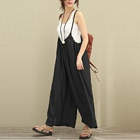 Casual Cotton Linen Jumpsuits