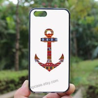 Colorful Anchor,Anchor case,iphone 5s case,iphone 4 case,iPhone4s case, iphone 5 case,iphone 5c case,Gift,Personalized,water proof