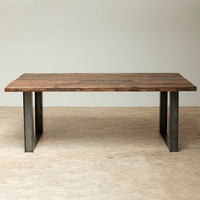 Mount Whitney Table -Reclaimed Architectural Douglas fir & Reclaimed steel