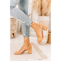 IMPERFECT Flawless Finish Suede Cut Out Heels (Sunkiss Nude)