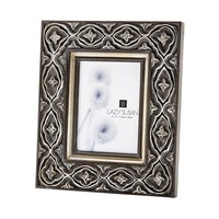Hand Carved Ornate 5x7 Frame Silver