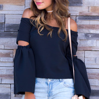 Ari Off The Shoulder Top - Black