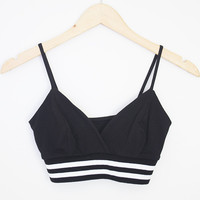 Sporty V Neck Crop Tank