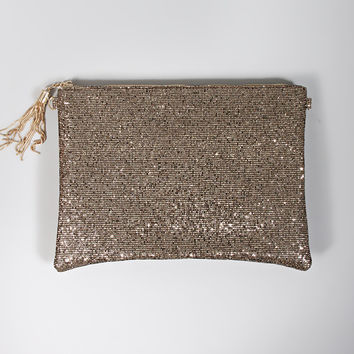 sparkle and shine glitter clutch