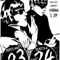 Sonic Youth Live with Nirvana Poster 11x17