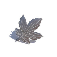 Sterling Silver Canadian Maple Leaf Lapel or Collar Pin,Brooch,BM Co. 925 Tiny Maple Leaf,Vintage Sterling Jewelry,Canada 150th Anniversary
