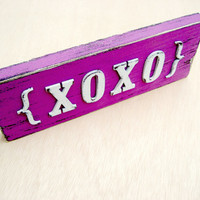 XOXO Sign - Valentines Day Decor -Love Sign - Radiant Orchid - XOXO letters - Custom Sign