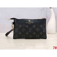 LV Louis Vuitton Stylish Women Men Leather Handbag Wrist Bag Purse Wallet 7#