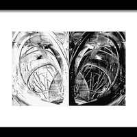 Contemporary Art - Black And White Embers 1 - Sharon Cummings Framed Print