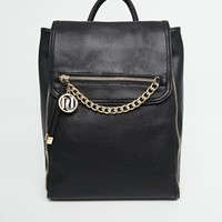 River Island Smart Backpack With Chain Detail
