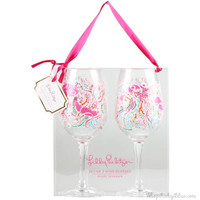 Lilly Pulitzer Arcylic Wine Glasses- Jellies Be Jammin