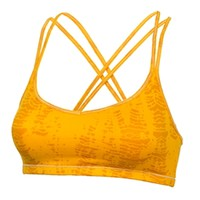 Under Armour Juniors' Fitted Gold Sports Bra