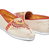Natural Canvas Beaded Embroidery Women's Classics