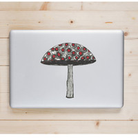 """Mushroom Die Cut Sticker // Trippy Psychedelic Decal // Cell Phone & Tablet Medium XL // 8"""" // Perfect For Indoor, Outdoor, Laptop, Car"""