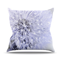 "Debbra Obertanec ""Lavender Wish"" Purple Flower Throw Pillow, 18"" x 18"" - Outlet Item"