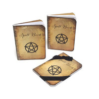Halloween Party Favors - Mini Spell Books - Halloween Notebooks - Pagan Wedding Favors - Witch Journals, Set of 10