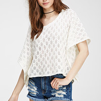 Ornate Open-Knit Sweater