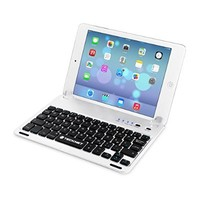 TeckNet® X360 Ultra-Thin Apple iPad Air Bluetooth Keyboard (US Keyboard Layout) Case Cover with Built-in Stand Groove for Apple iPad Air With 110 Degree Swivel Rotating - Silver