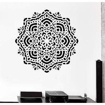 Wall Sticker Buddha Mandala Ornament Zen Meditation Vinyl Decal Unique Gift (z2935)
