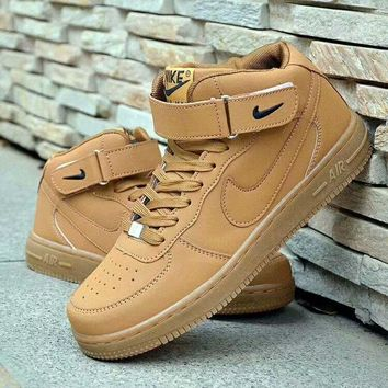 """""""Nike Air Force 1"""" Unisex Casual Fashion High Help Plate Shoes Couple Sneakers"""