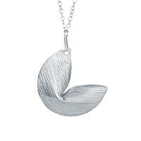 Supermarket: Good Fortunes- Fortune Cookie Necklace in white gold plate from Emily Elizabeth Jewelry