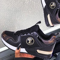 Louis Vuitton LV Trending Men Women Casual Sport Shoes Sneakers Black