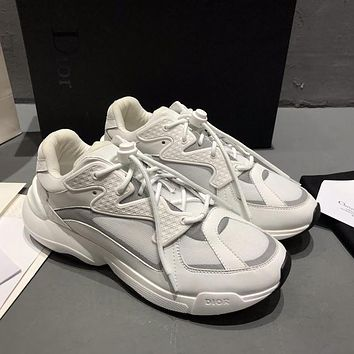 Dior Men's Leather Fashion Sneakers Shoes