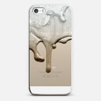 LIQUID SILVER & NUDE Crystal Clear iPhone Case iPhone 5s case by Monika Strigel |Get 20 % on Memorials Day with Code : MAY2014