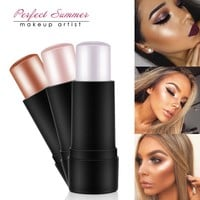 Perfect Summer Shimmer Highlighter Powder Creamy Silver Gold Shimmer Light Bronzer Highlighter Makeup For Face